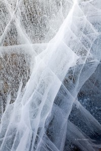 ice, fracture, dream lake, rocky mountain national park, colorado