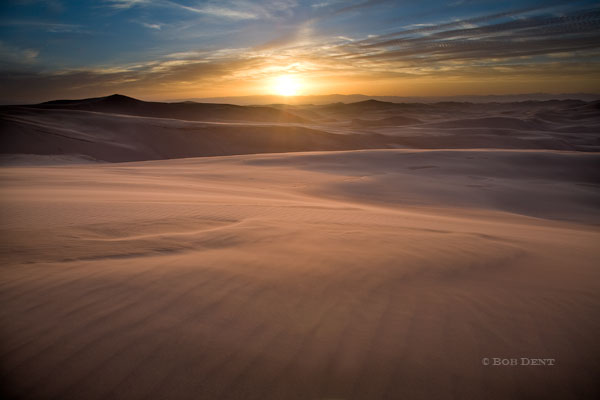 sunset, Great Sand Dunes, National Park and Preserve, Colorado