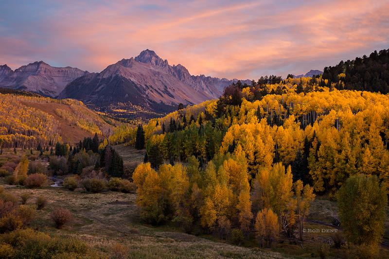 Mt. Sneffels, autumn, fall, San Juan Mountains, Colorado, sunset,