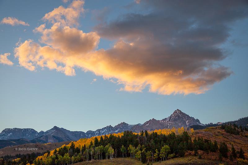 sunrise, cloud, autumn, Mt. Sneffels